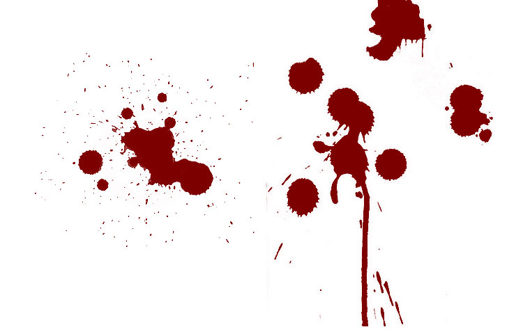 Bloodstain Blood Ps Photoshop Brushes