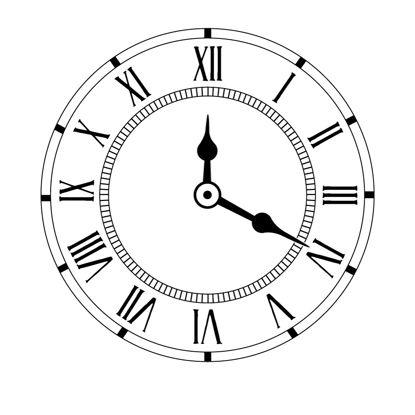 罗马数字时钟表图形AI矢量