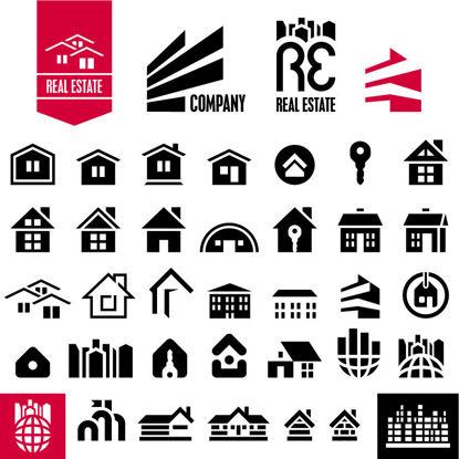 Houses Icons AI Vector