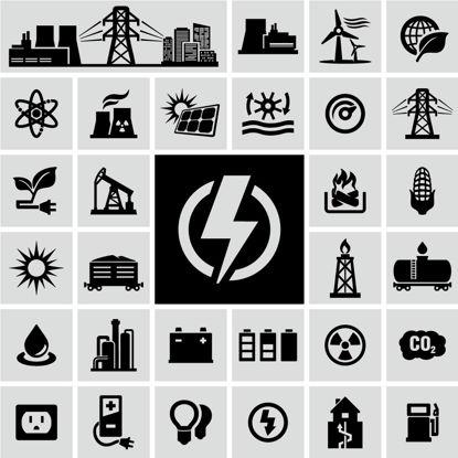 Iconos de notación de energía AI Vector