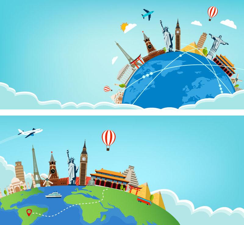 Viajes y turismo AI Vector