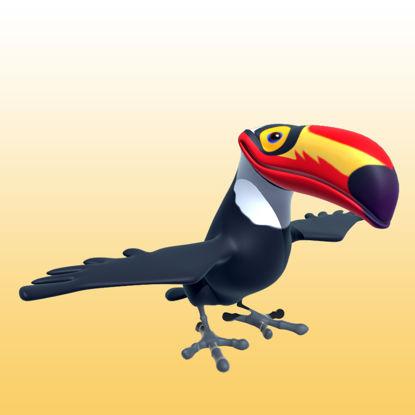 图片 卡通巨嘴鸟3D模型动物类-0052