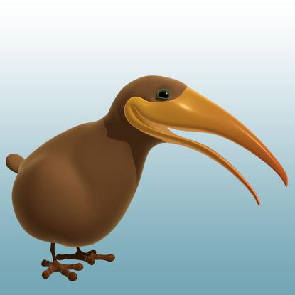 图片 卡通几维鸟3D模型动物类-0050