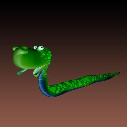 图片 卡通小青蛇3D模型动物类-0048