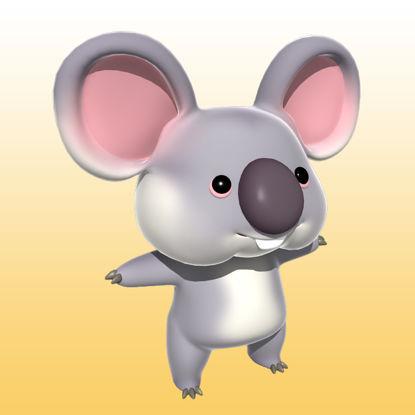 Koala 3D Çizgi Film Model Animal 0042 resmi