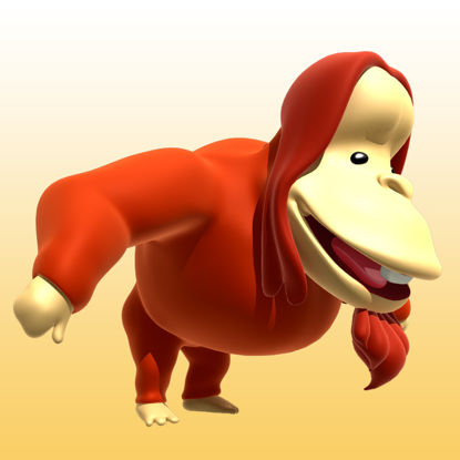 Cartoon Orangutan 3D Model Animal-0041 resmi