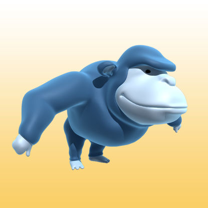 Cartoon gorilla 3D Model (Animals-0039) resmi