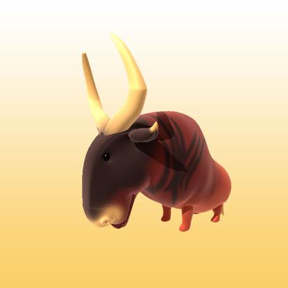 تصویر Cartoon Antelope 3D Model Animals - 0032