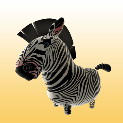 Cartoon Zebra 3D Model Animals - 0031 resmi