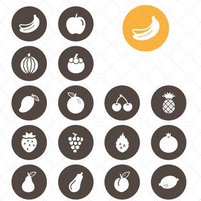 图片 水果矢量esp平面图标