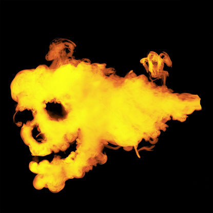 Picture of Fire Smoke Skull Transparent png