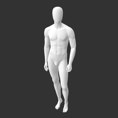 مدل چاپی 3D ایستاده ماهیچه های مرد مانکن ورزشی