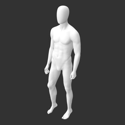 عضله ورزشی مانکن مدل ایستاده مدل چاپ 3D