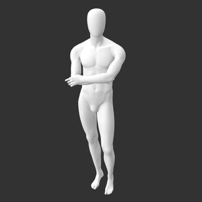 مدل چاپ سه بعدی چنگال دست عضلانی ورزشی مانکن نر