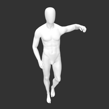 مدل چاپ سه بعدی عضله ورزشی مانکن نر روی شانه