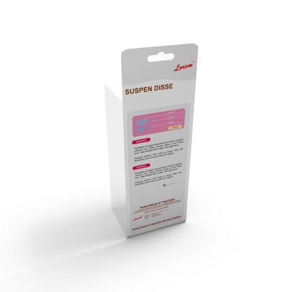图片 Hanging box package cardboard background design vector die cutting plate