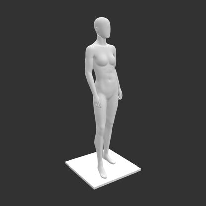 Female girl mannequin with support 3d print model resmi