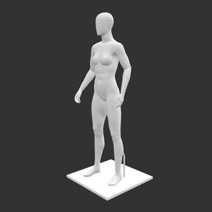 Female mannequin with support 3d print model resmi