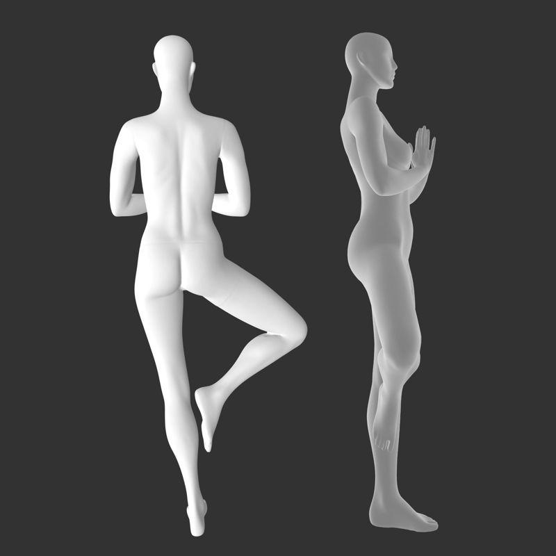 Female Yoga Mannequins 3d printing model