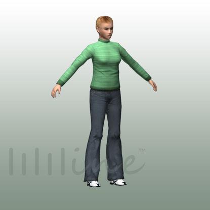 Woman in Casual 3D Model 0076 resmi