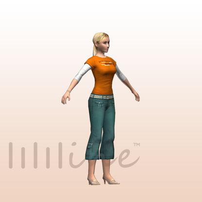 Woman in Casual 3D Model 0075 resmi