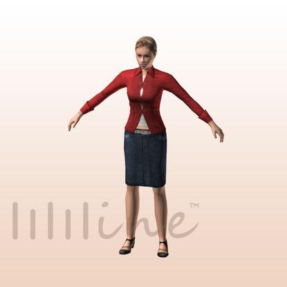Woman in Casual 3D Model 0072 resmi