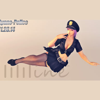 DOA5 Ayane Police 3D Model 0088 resmi