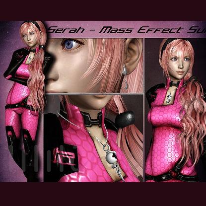 Mass Effect Suit Game Character Serah 3D Model 0091 resmi