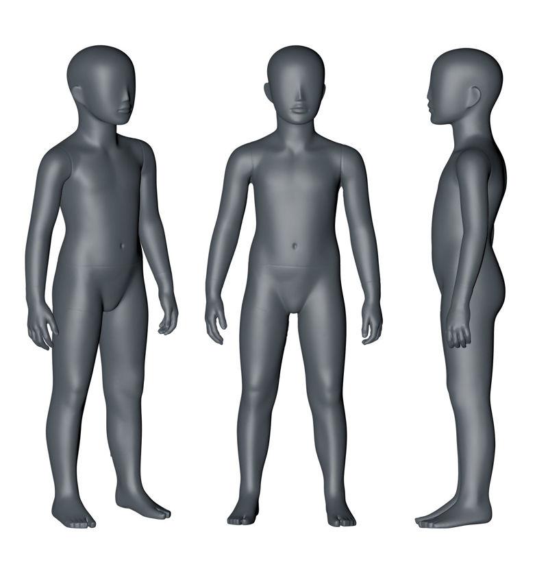 图片 5岁儿童模特3D打印模型