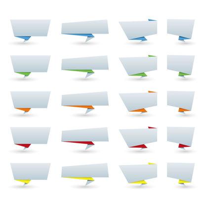 纸折叠的对话框图形AI矢量