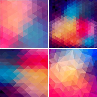 Изображение Красочные полигоны фоновый рисунок аи вектор