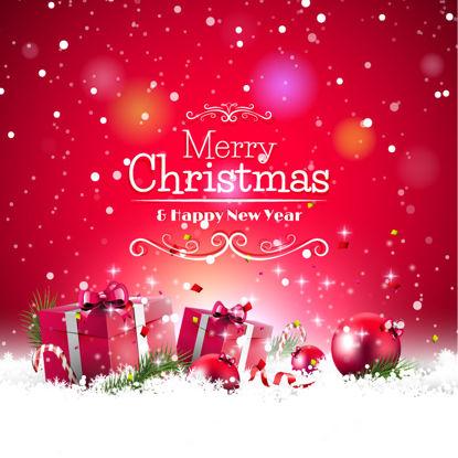عيد الميلاد السنة الجديدة الأحمر خلفية الرسم AI Vector