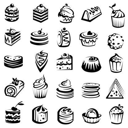 تصویر Cakes Icons AI Vector