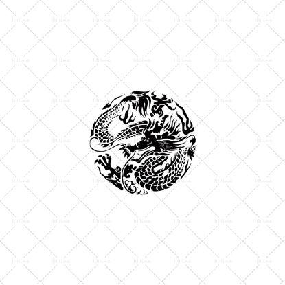 tatouage de dragon circulaire