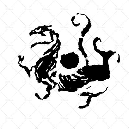 Picture of white tiger Chinese symbol