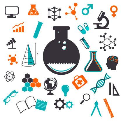 Vettore di AI della raccolta degli elementi di progettazione di scienza