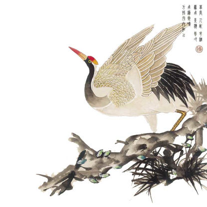 Chinese Classical Elements of Crane and Red-crowned Crane resmi