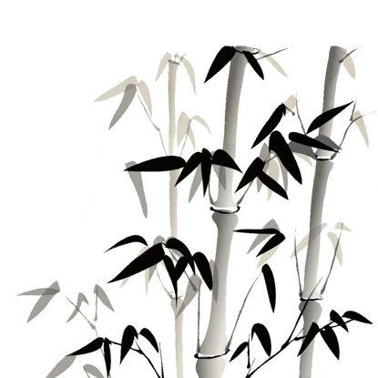 Image de Encre de Chine et lavis graphique en bambou