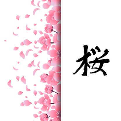 和風桜背景30 の画像