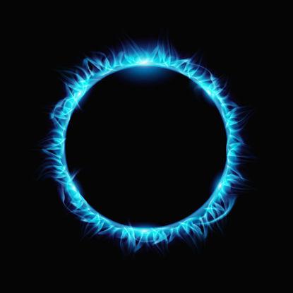Mavi Ateş Çemberi PNG resmi
