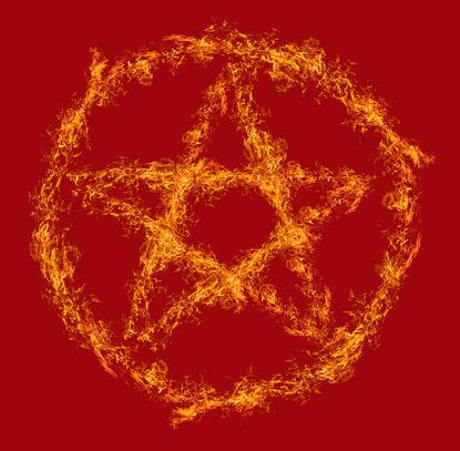 Daire yangında Beş Köşeli Yıldız PNG resmi