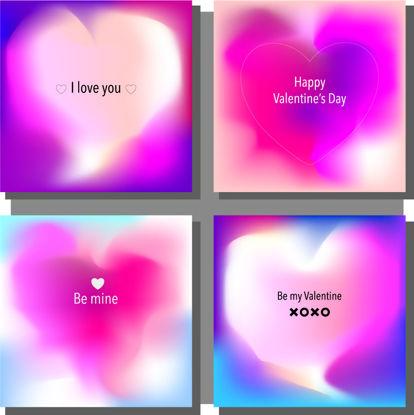 4 قلب قلب متن ولنتاین بردار AI گرافیکی