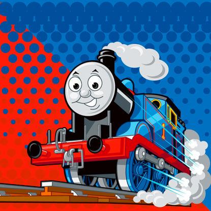 卡通玩具火车托马斯AI矢量