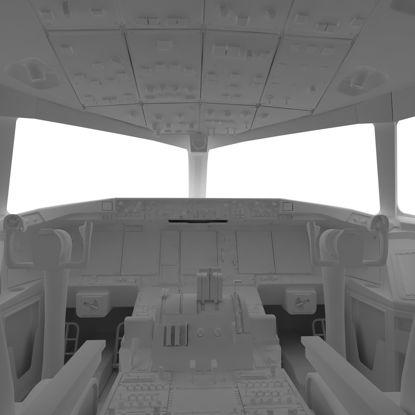 ボーイング777コックピット3Dモデル の画像