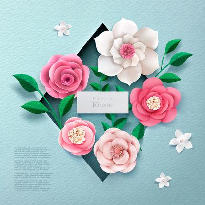 تصویر کاغذ زمینه برش کاغذ پس زمینه گل