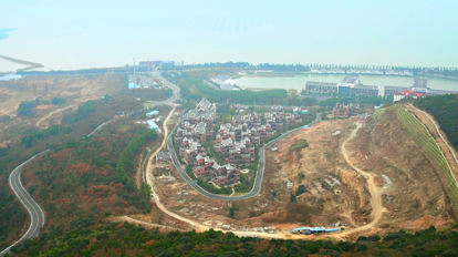 Luftaufnahme Hügel Stadt