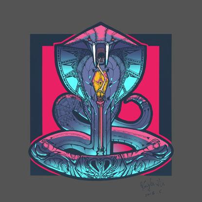 Значок логотипа змейки