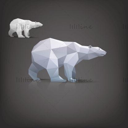 图片 北极熊AI矢量