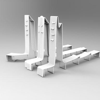 Vorbildliches Industriedesign des öffentlichen Sitzes 3d