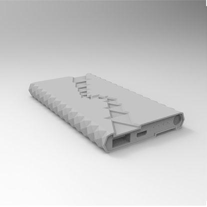 Draagbaar ontwerp van de batterij 3d modelindustrie